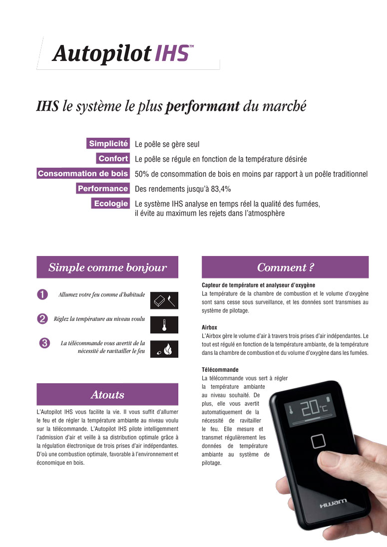 Systeme Ihs Poele Telecommande 1