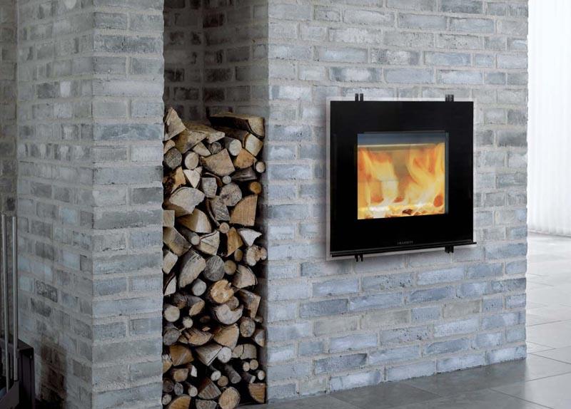 Parement pierre chemine parement pierre chemine relooker cheminee marbre moderniser salon - Transformer une cheminee en insert ...